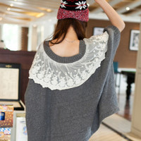 Bud Silk Bat Type Cloak Sweater $43.00