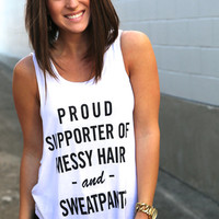 Proud Supporter Muscle Tank {White}