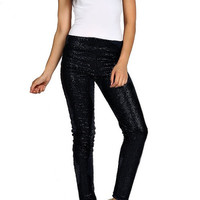 Glitter Bomb Sequin Pants - Black PRE-ORDER NOW!   Daily Chic