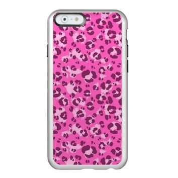 Pink Leopard Print - iPhone 6 Silver Case
