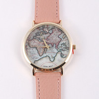 Exclusive: World Map Watch in Pink - Default Title