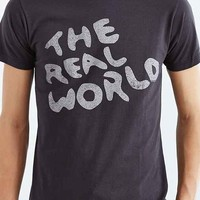 Junk Food The Real World Tee- Washed Black