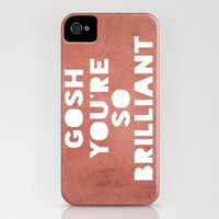 Gosh (Brilliant) iPhone Case by Rachel Burbee | Society6