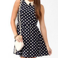Collared Polka Dot Dress
