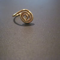 No Piercing &quot;Tiny Spiral&quot; Nose Cuff /Ring 1 Cuff  - Gold Tone or 17 Color Choices