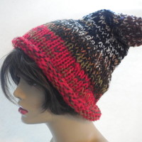 Red Brim Gnome Hat by IllusionsbyDonna on Zibbet