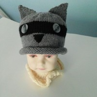 Richie Raccoon Beanie by IllusionsbyDonna on Zibbet