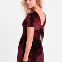 Little Promises Velvet Playsuit By MINKPINK