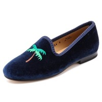 #JetSetter Embroidered Loafers
