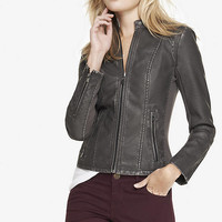 EMBOSSED SNAKESKIN (MINUS THE) LEATHER MOTO JACKET from EXPRESS