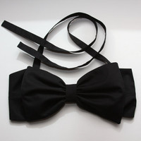 plain black bow bandeau - Made to order