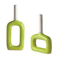 brillare vases - green - a modern, contemporary vase from chiasso
