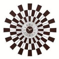 sunburst wall clock - a modern, contemporary wall clock from chiasso