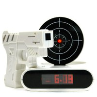 Gun O&#x27;Clock shooting alarm clock