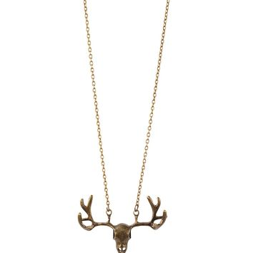 Butter Jewelry Moose Skull Necklace