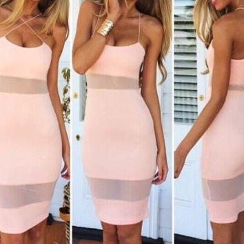 Julie Criss Cross Cocktail Dress