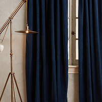 Hand-Embroidered Charente Curtain