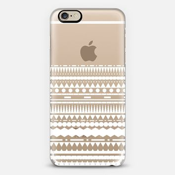 White Modern Aztec Partial Transparent iPhone 6 case by Organic Saturation | Casetify