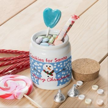 Cute Cookies for Santa from Snowman Cookie Jar