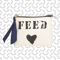 FEED 'Friendship' Canvas Pouch | Nordstrom