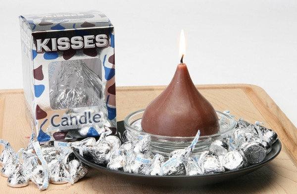 Hershey's Kisses Chocolate Candle