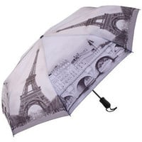 Galleria Art Print Auto Open &amp; Close Folding Umbrella - Paris