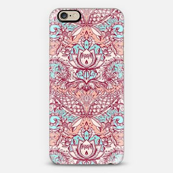 Natural Rhythm - a hand drawn pattern in peach, mint & aqua iPhone 6 case by Micklyn Le Feuvre | Casetify
