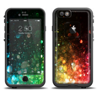 The Neon Glowing Grunge Drops Skin Set for the Apple iPhone 6 LifeProof Fre Case