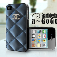 iPhone 4/4s case, Chanel Black Quilt design, custom cell phone case
