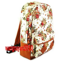 New Women Girls Fashion Vintage Cute Floral School Book Campus Bag Backpack A049