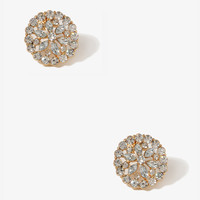 Floral Rhinestone Earrings