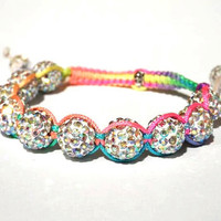 Rainbow Shamballa Bracelet