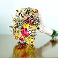 Wedding Girl / Ideas: Vintage Brooch Bouquets