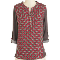 ModCloth Mid-length 3 Now, Wear Was I? Top