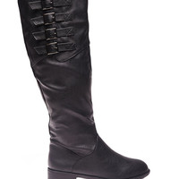 Buckled Tall Riding Boots | Wet Seal