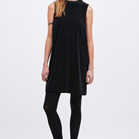 Sparkle & Fade Ribbed Turtle Dress in Black - Urban Outfitters