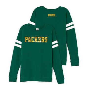 Green Bay Packers Bling Crewneck Tee - PINK - Victoria's Secret