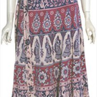 Boho Vintage Wrap Around Hippie Skirt by Nelda's Vintage Clothing