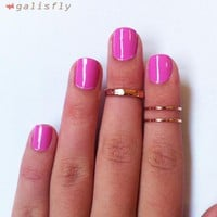 3 Above The Knuckle Rose Gold Rings.. on Luulla