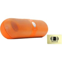 Beats - Pill Portable Speaker Bundle with Zorro Sounds Cleaning Cloth - Neon Orange