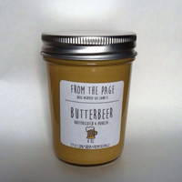 Butterbeer Soy Candle 8 oz by FromthePage on Etsy