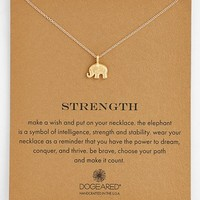 Women's Dogeared 'Reminder - Strength' Boxed Pendant Necklace - Gold