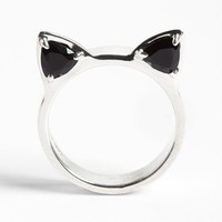 Meadowlark Cat Ears Onyx & Silver Ring | Nordstrom