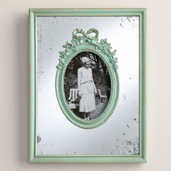 Aqua Wooden Mirrored Margo Frame - World Market