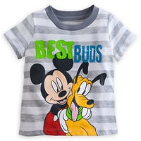 Mickey Mouse and Pluto Striped Tee for Baby