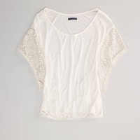 AE Lace Butterfly T | American Eagle Outfitters
