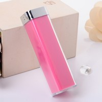 Images of Electroplated 2600mAh Lipstick Shaped Power Bank Rose Red - Tmart