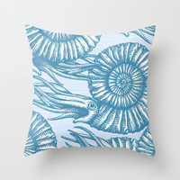 AMMONITE COLLECTION Throw Pillow by Chicca Besso