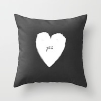 yes! Throw Pillow by Mnemo′Syne