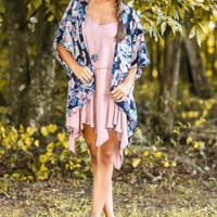 BB DAKOTA:Floral Haven Cardigan